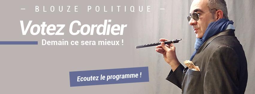 le programme de Cordier pour les prochaines élections