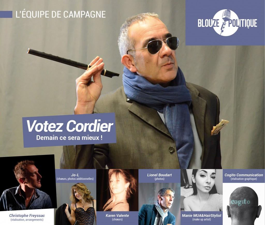L'équipe de campagne du Blouze Politique emmenée par le candidat Cordier